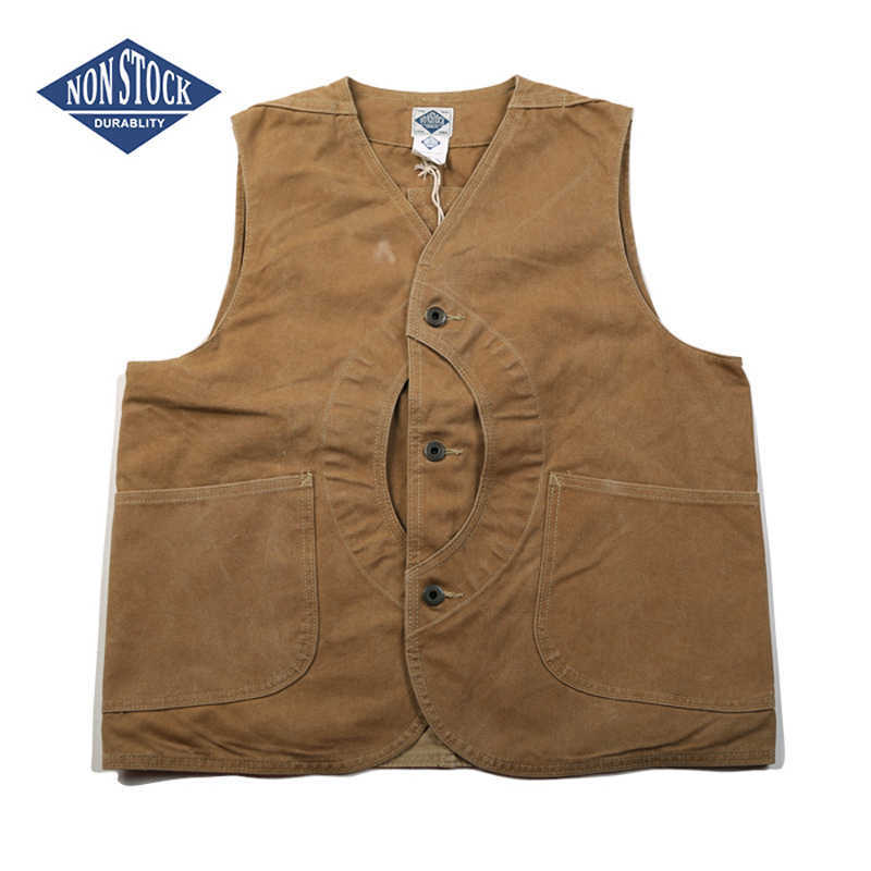 NON STOCK Duck Canvas Game Pocket Vest Vintage Outdoor Men's Hunting Jacket