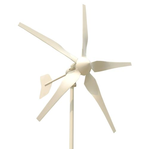 Tumo-Int 1000W 5Blades Wind Turbine Generator Kit with Wind Boosting Controller and Dump Load (48V) 1000w wind power grid tie inverter with dump load controller internal limiter for 24v 48v 60v 72v ac dc wind turbine generator