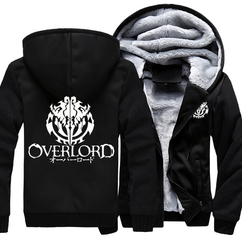 Image 2 - Fashion Mens Hooded Anime Overlord Fleece Thicken Hoodie Unisex 