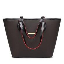 SUONAYI High Quality Leather Women Bag Bucket Shoulder Bags Solid Big Handbag Large Capacity Top-handle Herald Fashion