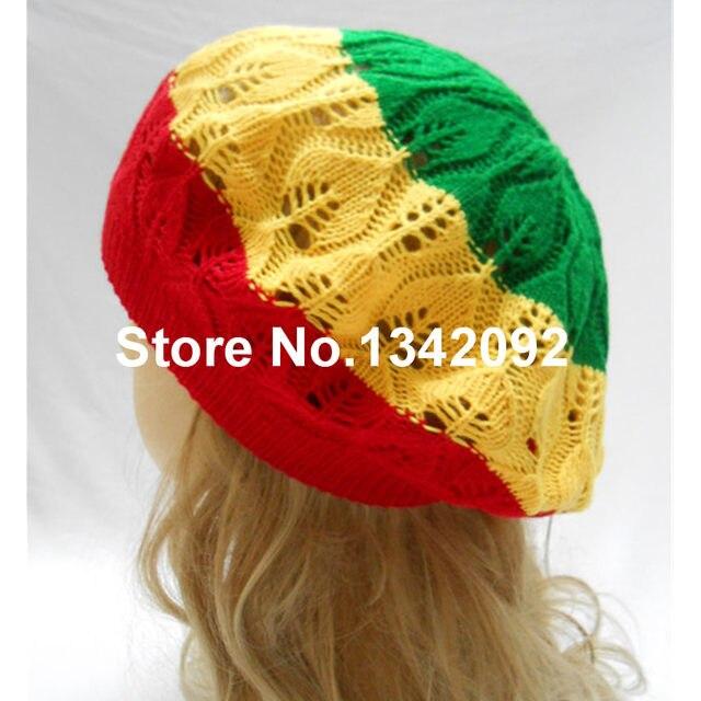 Tienda Online Rasta Tam Beret sombrero de punto de ganchillo reggae ...