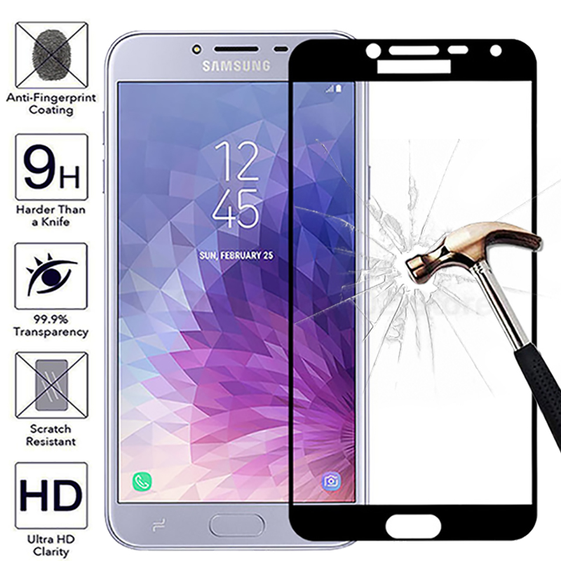 3D Full Cover protective Glass on J4 2018 Tempered Glass For Samsung J4 J6 2018 A6 Plus 2018 J5 J3 2016 Screen Protector A7 2018-in Phone Screen Protectors from Cellphones & Telecommunications