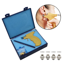 Profissional orelha parafuso prisioneiro brinco piercing arma ferramentas kit de alta qualidade reutilizável earlobe cartilagem corpo piercing gun conjunto