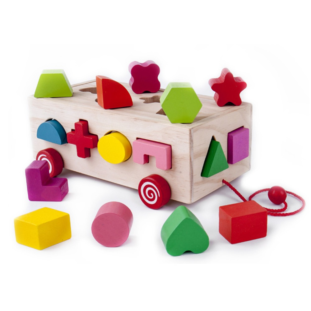 Intelligence Box Shape Sorter Toys Baby Cognitive Matching Building Block Toy Educational Montessori Toys For Children Xmas Gift