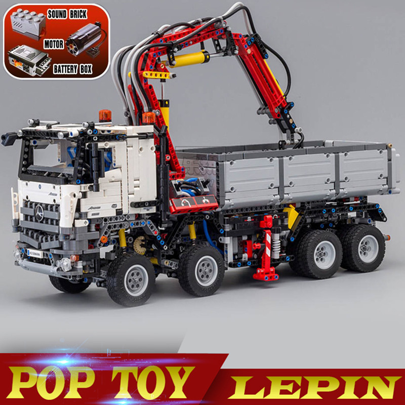 LEPIN 20005 technic series DIY Arocs Model Building Block Bricks Compatible with 42043 Boys Toy Educational Birthday Gift lepin technic series building bricks 20005 2793pcs arocs truck model building kits blocks compatible 42043 boys toys gift