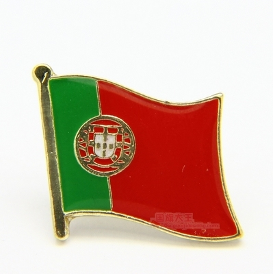 National Flag Metal Lapel Pin Flag Pin Portugal by Xzbn