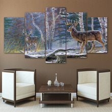Artryst Canvas Wall Art Posters Prints Painting Pictures For Living Room Home Decor 5 Panel Frames Animal Deer