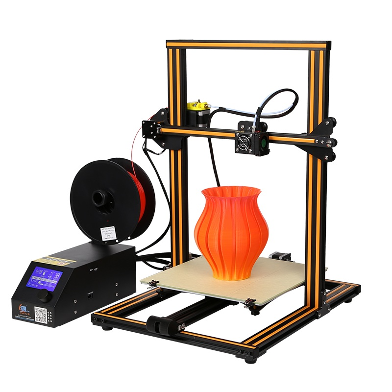 Newest Creality 3D CR-10 DIY 3D Printer Kit 300*300*400mm Printing Size 1.75mm 0.4mm Nozzle ABS PLA filament with heated bed metal frame linear guide rail for xzy axix high quality precision prusa i3 plus creality 3d cr 10 400 400 3d printer diy kit