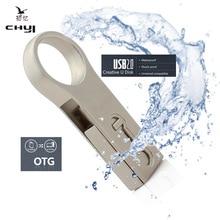 CHYI New Waterproof OTG USB 2.0 Flash Drive 8/16/32/64GB Tablet Smartphone Memory USB Disk Pen Drive Gadget Double Plug U Disk