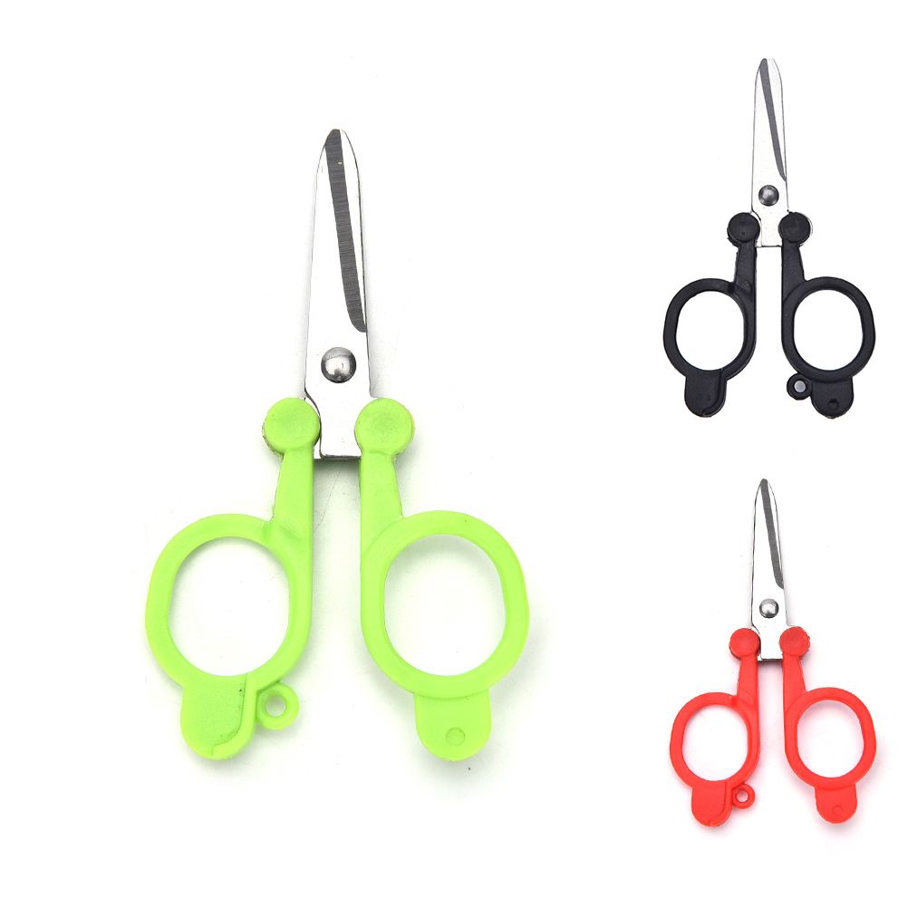 Cutting Supplies Generous 1pc Multicolor Useful Trimming Scissors Nippers Sewing Embroidery Yarn Stainless Steel Folding Mini Scissors