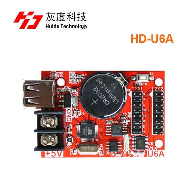 Huidu HD U6A u القرص مصباح أحادي اللون بطاقة العمل ل لون واحد و ثنائي اللون شاشة led وحدة عرض تحكم
