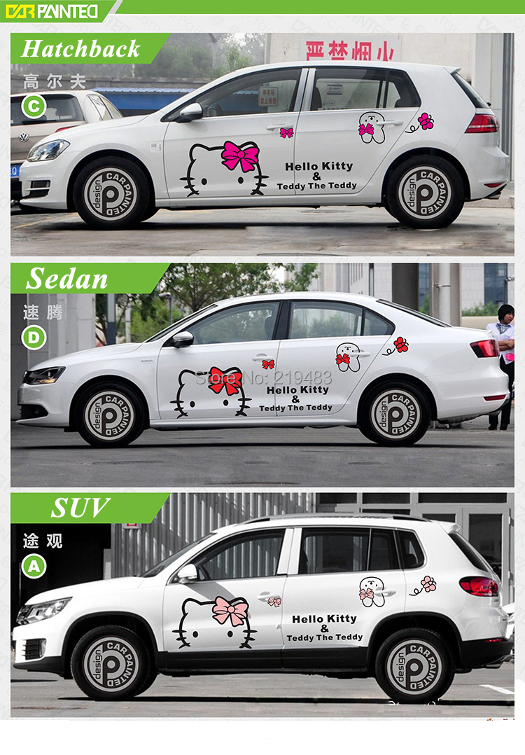Whole car sticker design cute kitty cat car body sticker hood decals car accessories 3d cartoon universal sticker on car di dari aliexpress com alibaba
