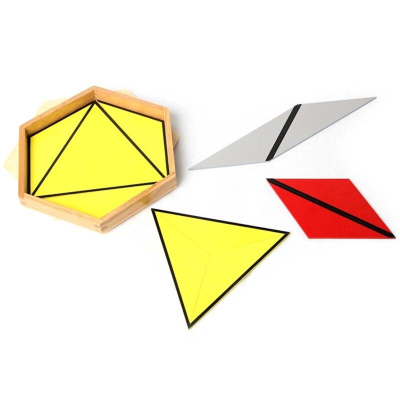 Bébé jouet Montessori Triangles constructifs avec 5 boîtes pour l'éducation de la petite enfance formation préscolaire jouets d'apprentissage - 2