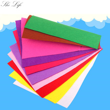 10pcs Mix Colors Felt Nonwoven Fabric for Dolls DIY Crafts Kids Handmad Decoration