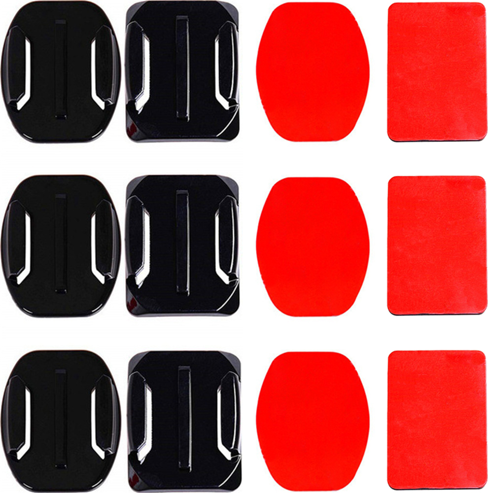Adhesive Mounts For GoPro 7 6 5 4 3 Curved Flat Mounts Sticky Pads For Go Pro Xiaomi Yi SJCAM Action Camera Helmet Board Car