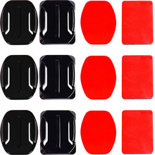 Adhesive Mounts For GoPro 7 6 5 4 3 Curved Flat Mounts Sticky Pads for Go Pro Xiaomi Yi SJCAM Action Camera Helmet Board Car(China)