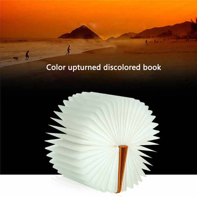 LightMe оригинальная Складная мини-Книга в форме света теплый белый светодиодный Деревянный USB Перезаряжаемый настольный ночник декор для гостиной спальни
