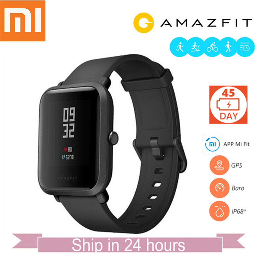 Original Xiaomi Huami Amazfit Smart Watch GPS Heart Rate Fitness Tracker Bip BIT PACE Lite Waterproof Pedometer English Version [english version] xiaomi huami amazfit bip bit pace lite youth mi fit ip68 waterproof glonass smart watch gps english language