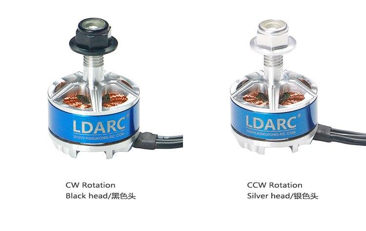 LDARC KINGKONG XT1806 2500KV Motor sin escobillas CW CCW para FPV Racing Drone Quadcopter RC Racer accesorio