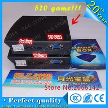 520 in 1 Pandora jamma arcade machine box game board games multi game card VGA outp for CRT/CGA arcade cabinet