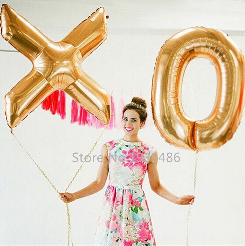 40 inch new Gold silver Number Letter Foil balloons balls party home decoration
