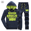 2016 new brand tracksuits men's letter print sportswear jackets+pants men hoodies and sweatshirts outwear suits man plus 5XLsets