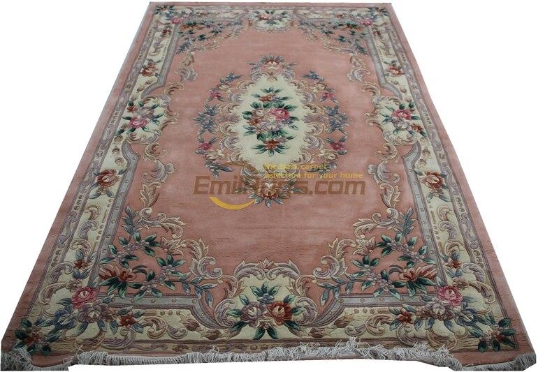 Vintage belge Savonnerie tapis brodé laine tricot tapis turc à la mode ménage décore circulaire
