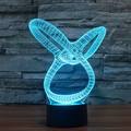 7 cor Ilusion Atmosfera de Férias Decorativos Crianças Fantasia presente Abstraction Estilo 3D Luz CONDUZIDA Da Noite