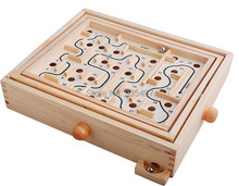 New wooden toy Hand intellectual labyrinth the solitaire game of skill Premier Edition Labyrinth Free shipping