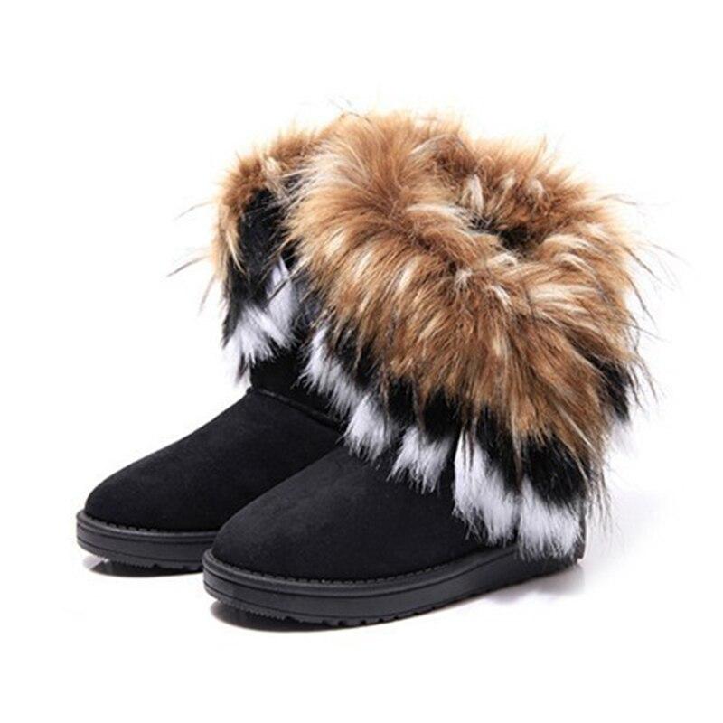 Fashion Women Boots Snow Winter Warm Velvet Women High Boots Fluffy New Style Women Shoes Big Size