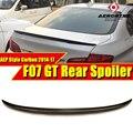 Подходит для BMW GT F07 настоящий углерод  волокно  большой багажник  спойлер  крыло P Стиль 5 серии 535iGT 550iGT  крыло  задний спойлер 2014-17