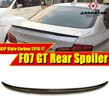 Fits For BMW GT F07  True Carbon Fiber High Kick Big Trunk Spoiler Wing P style 5 Series 535iGT 550iGT wing Rear 2014-17