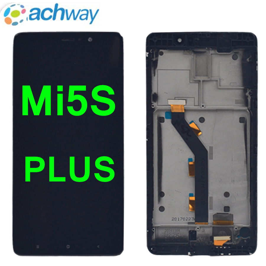 100% Tested Xiaomi Mi5S Plus LCD Display Screen Touch Screen Digitizer Assembly Xiaomi Mi 5S Plus LCD Replacement Repair Parts