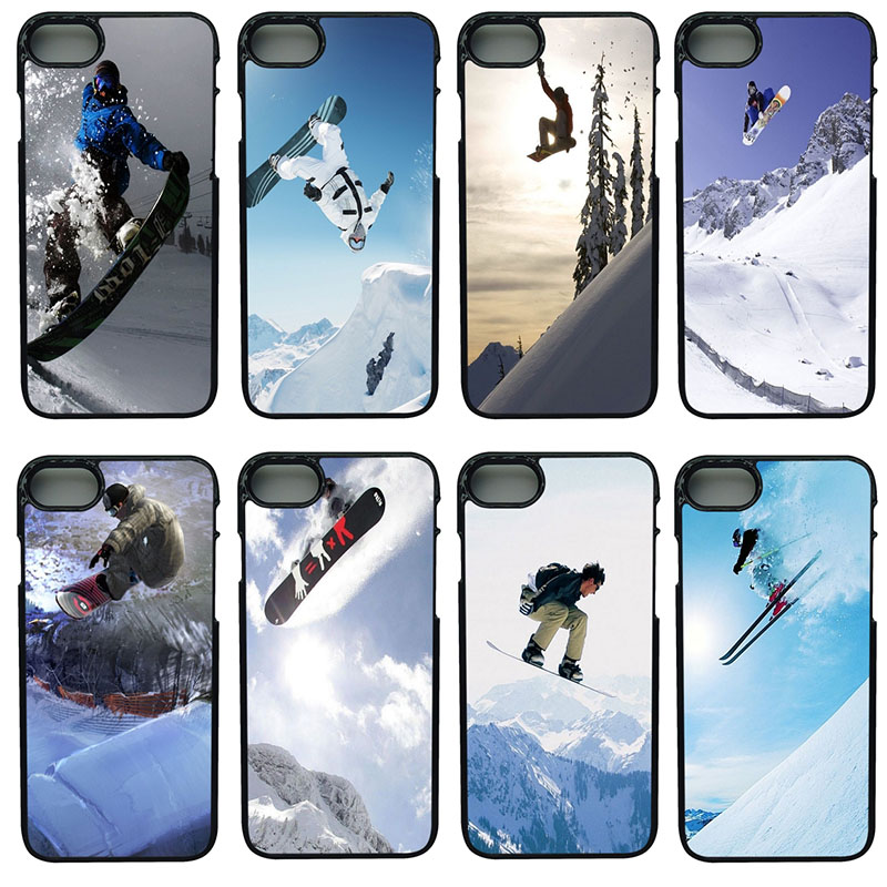 Extreme Snowboarding Cell Phone Cases Hard Plastic Shell Phone Cover for iphone 8 7 6 6S PLUS X 5S 5C 5 SE iPod Touch 4 5 6 Case
