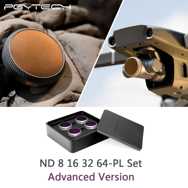 PGYTECH zaawansowana wersja DJI Mavic 2 Zoom ND8PL + 16PL + 32PL + 64PL zestaw filtrów dla DJI Mavic 2 aparat z zoomem filtr obiektywu akcesoria