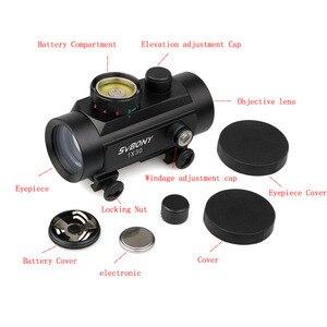 Image 3 - Svbony 1x30mm Sight Tactical Red Green Dot Riflescope Five Brightness Setting Reflex Sight Scope w/ 20mm Rail Mount F9148A