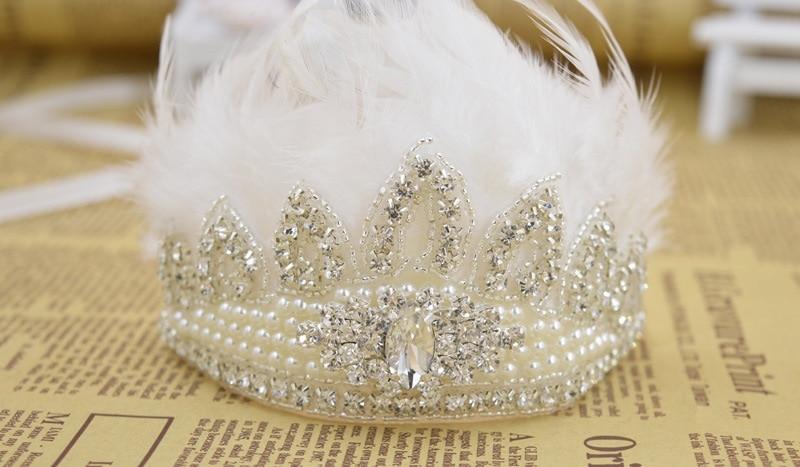 Spedizione gratuita Perle e centro di cristallo Per bambini Tiara - Abbigliamento per neonato