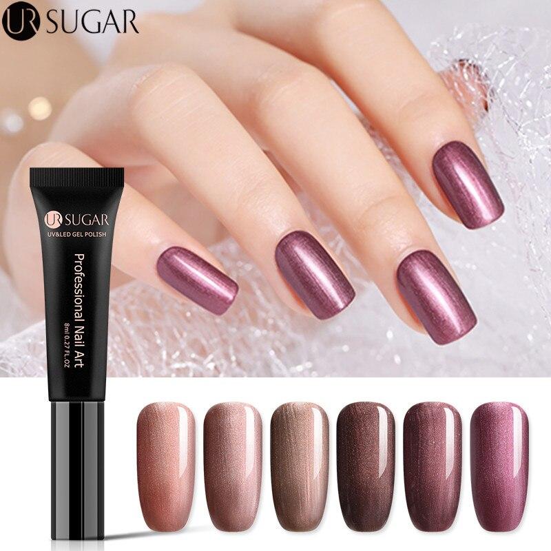 UR SUGAR 8ml Bronze Color Series UV Gel Polish Pearl Effect Soak Off UV LED Gel Varnish Manicure Nail Gel Lacquer Varnish -in Nail Gel from Beauty  Health on Aliexpresscom  Alibaba Group