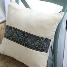 Quality Soft Velvet Grey Cushion Cover Home Sofa Decorative Cushions Embroidered Pillow Cover Throw Pillows Decoration Maison