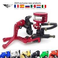 Motorcycle 22mm Brake Clutch Pump Lever Hydraulic Master Cylinder Set For bmw r1150rt ducati 1098 benelli tnt 300 yamaha mt 03