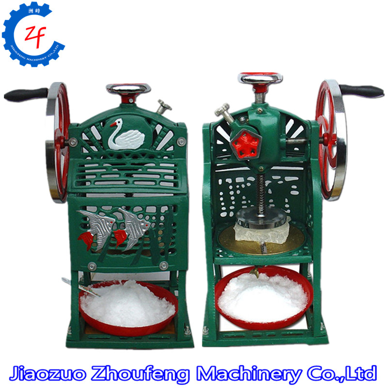Ice crusher summer sweetmeats sweet ice food making machine manual fruit ice shaver machine ZF hand driven ice crusher commercial and home use crushed ice machine zf