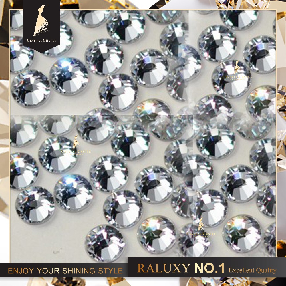 crystal castle hot fix Rhinestone ss12 3-3.2mm clear crystal iron on transfer 5A flatback strass hotfix rhinestones for shoes