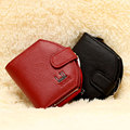 Women Wallet 2016 New Style Genuine Leather Short Style Wallets Real Cow Leather Horse Purse Card Case Coin Purse