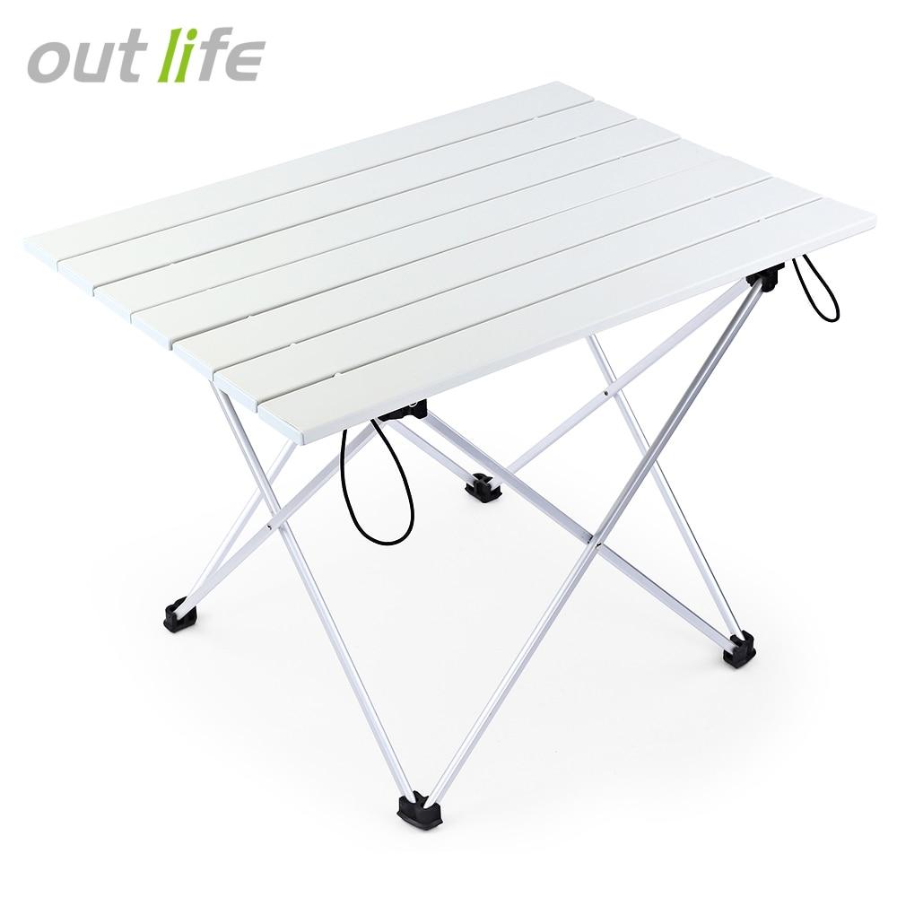 Outlife Portable BARBECUE En Plein Air Camping Pique-Nique En Alliage D'aluminium Table Pliante Portable Mini Rectangle Table En Alliage D'aluminium Titulaire Z30