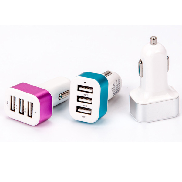 USB Car Phone Charger 3 Ports USB Car Charger For Huawei P8 Lite P7 P6 Honor 8 7 6 Ascen ...