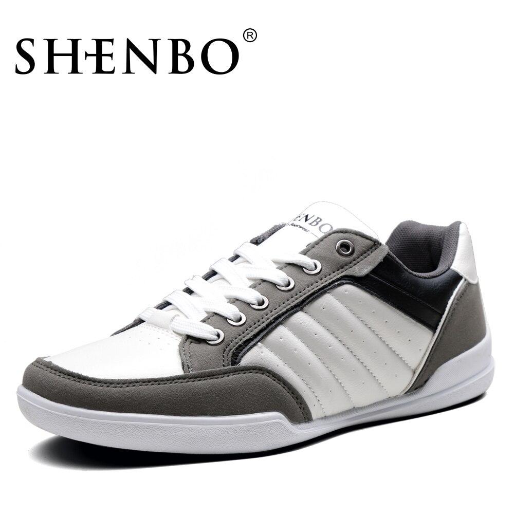 Бренд shenbo мягкие Повседневное Мужская обувь, новый Дизайн осень модные кроссовки, Кружево до Обувь для Для мужчин Распродажа для россиян