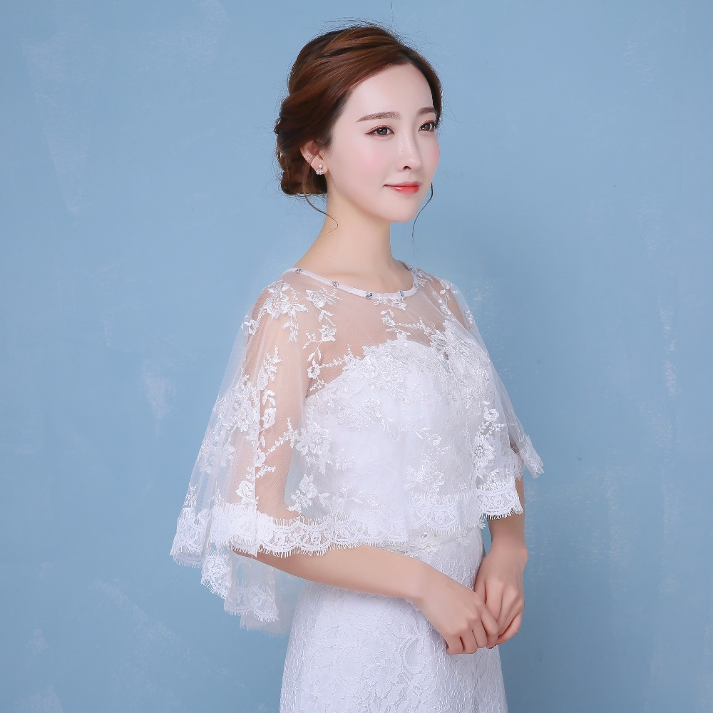 Delicate Lace Short Front long Back Coat Wedding White Red with ...