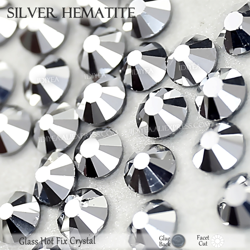 SS4 to SS50 Clear Crystal DMC Hotfix Rhinestone 1.5mm to 9.5mm Glass Strass Hot