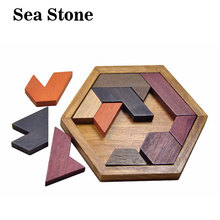 Children Kids Puzzles Wooden Toys Tangram Jigsaw Board Wood Geometric Shape Puzzle Educational Toys for kids Christmas gifts kids wooden montessori material animals jigsaw puzzle educational toys for children wood tangram memory flag teaching aids