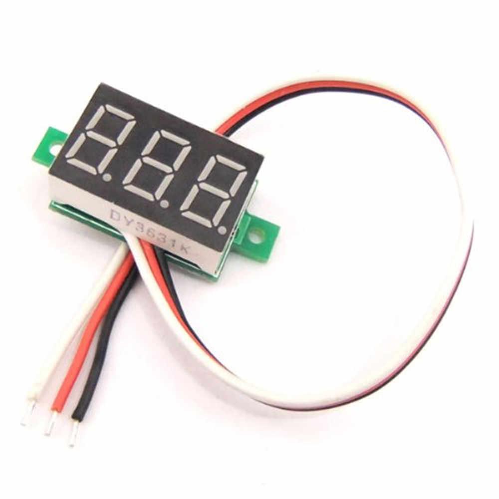 DC 12 В цифровой светодиодный дисплей вольтметр Индикатор детектора Тестер монитор панель 0,36 дюймов 3 провода DC 0-100 в вольтметр